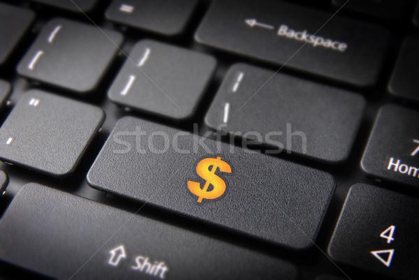 Foto d'archivio: Soldi · internet · business · giallo · dollaro