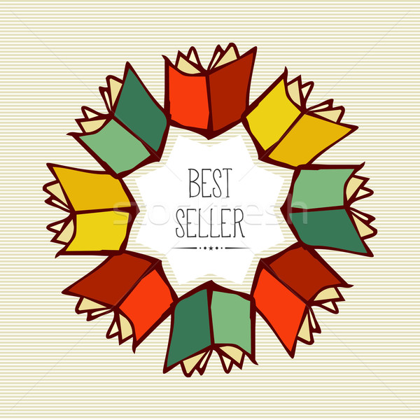 Retro best seller book flower. Stock photo © cienpies