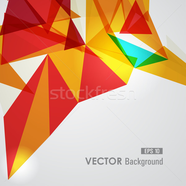 Piros citromsárga mértani átláthatóság trendi átlátszó Stock fotó © cienpies