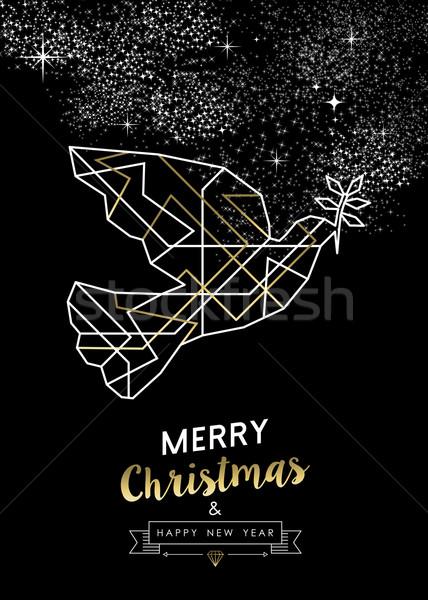 Alegre Navidad año nuevo paz paloma Foto stock © cienpies