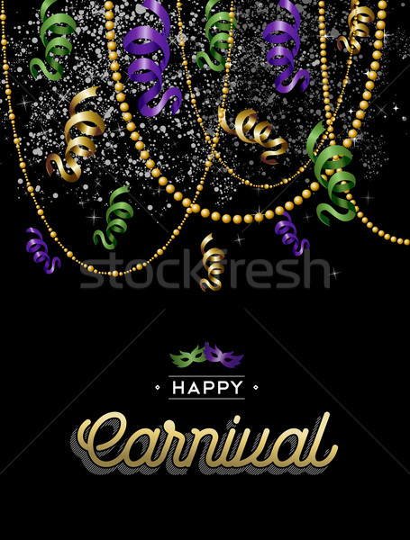 Happy carnival colorful party background Stock photo © cienpies