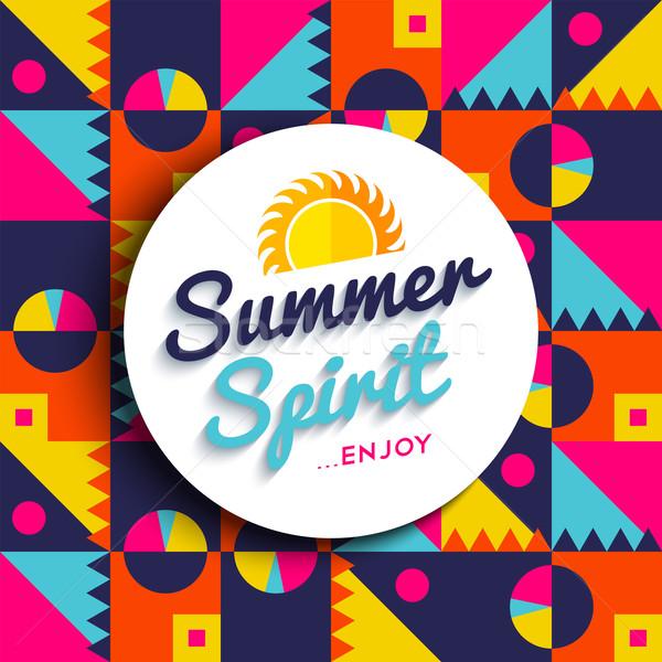 Verão espírito desfrutar férias cor citar Foto stock © cienpies