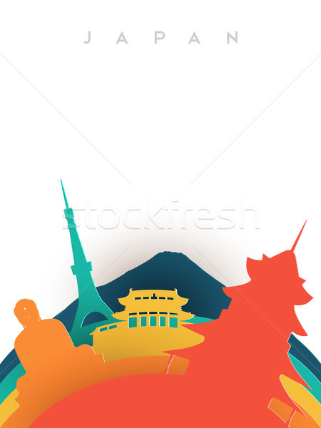 Travel Japan 3d paper cut world landmarks Stock photo © cienpies