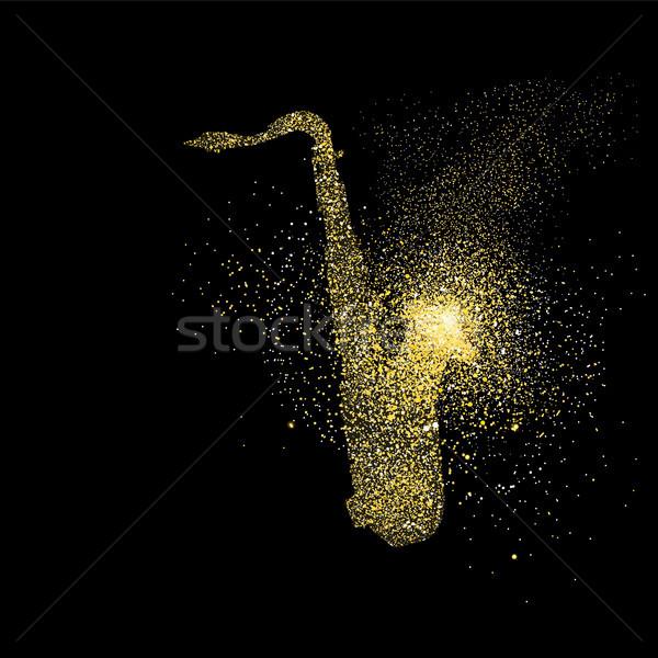Złota blask sztuki symbol ilustracja Zdjęcia stock © cienpies