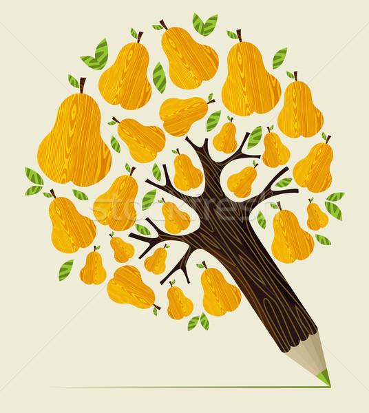Healthy fruit concept tree Stock photo © cienpies
