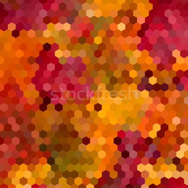 Streszczenie kolorowy plaster miodu projektu geometryczny Zdjęcia stock © cienpies
