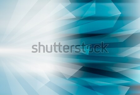 Abstract geometric blue background design Stock photo © cienpies