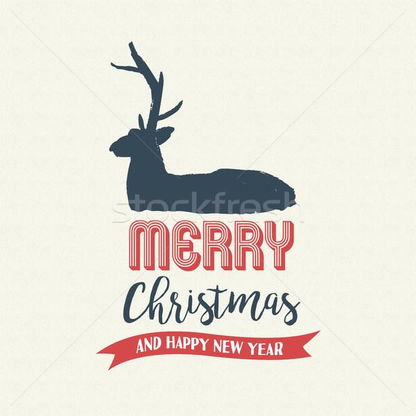ストックフォト: クリスマス · 文字 · 引用 · 書道 · 鹿 · 実例