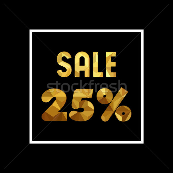 Venda 25 ouro citar negócio Foto stock © cienpies