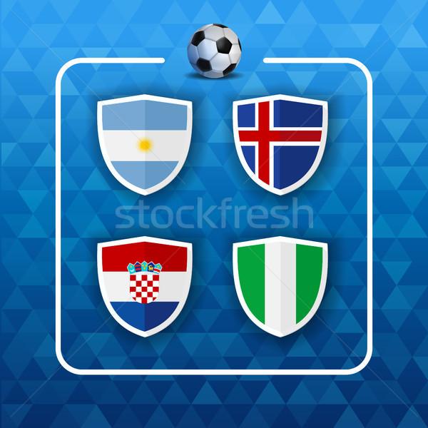 Grupo país equipes russo futebol evento Foto stock © cienpies