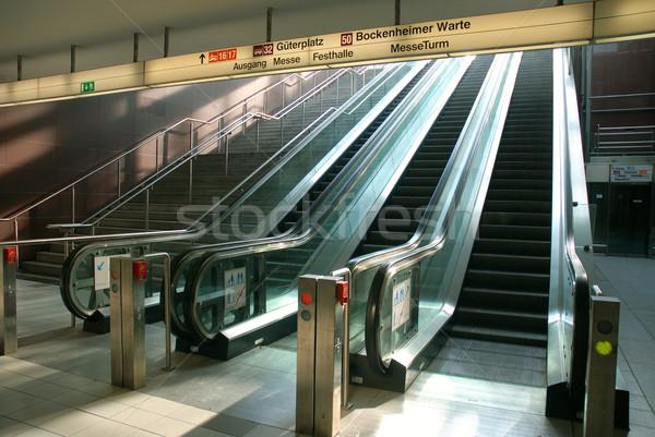 Scala mobile aeroporto movimento costruzione città tecnologia Foto d'archivio © cienpies