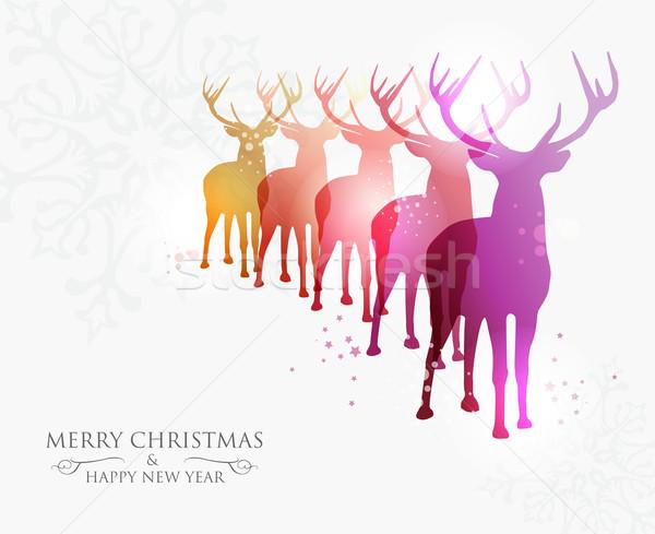 陽気な クリスマス 現代の 考え 雪 透明 ストックフォト © cienpies