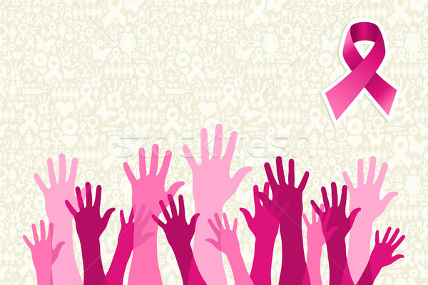 Global breast cancer awareness campaign Stock photo © cienpies