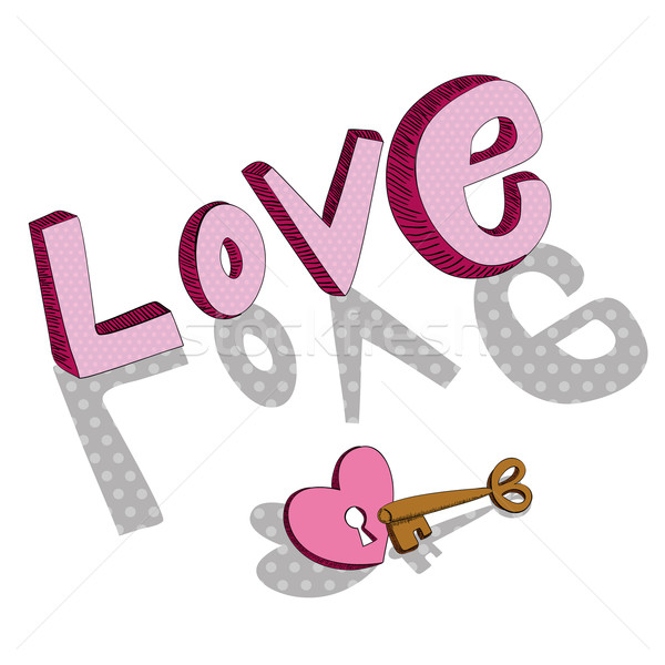 Clave amor San Valentín día tarjeta de felicitación Foto stock © cienpies