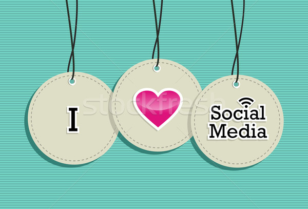 Social media hang tags label set Stock photo © cienpies