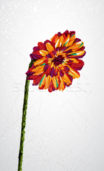 Geometric colorful flower transparency shape. Stock photo © cienpies
