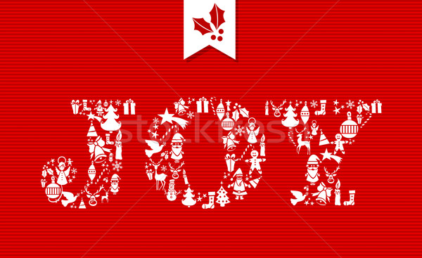 Merry Christmas joy concept icons. Stock photo © cienpies
