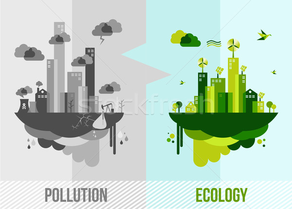 Green environment concept illustration Stock photo © cienpies