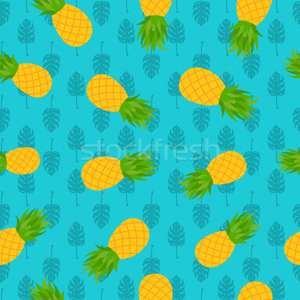 Pineapple tropical seamless pattern for summer Stock photo © cienpies