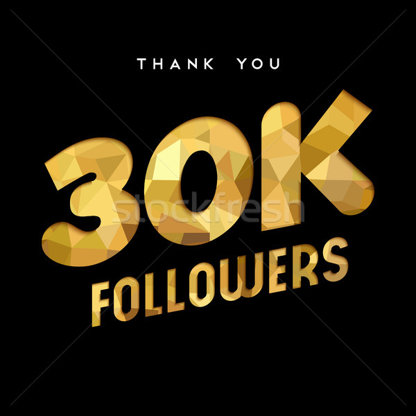 30k gold internet follower number thank you card Stock photo © cienpies