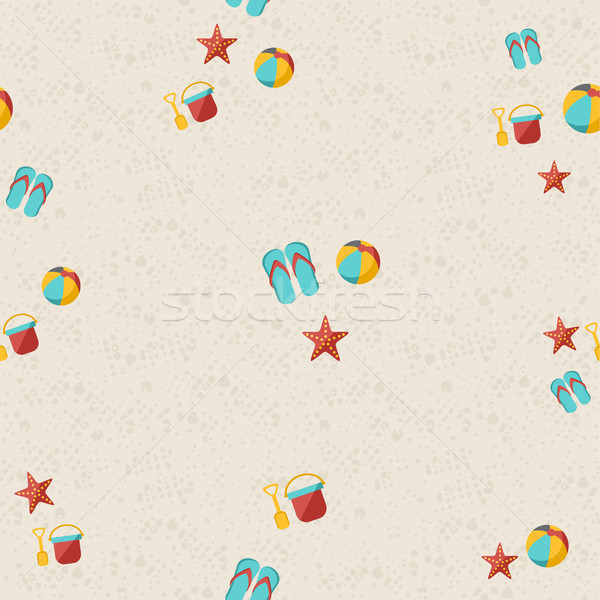 幸せ 夏 ビーチ パターン おもちゃ ヒトデ ストックフォト © cienpies
