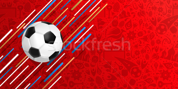 Soccer ball web banner for a special football game Stock photo © cienpies
