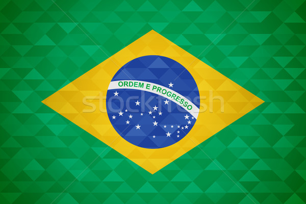 Brazil country flag of brazilian nation Stock photo © cienpies