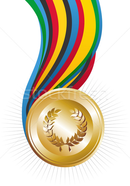 Olympics Games gold medal Stock photo © cienpies