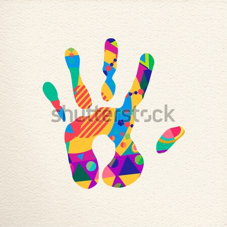 Multicolor diversity hand isolated Stock photo © cienpies