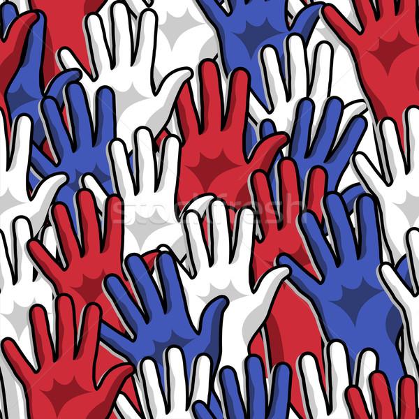 Democracia votação padrão vetor Foto stock © cienpies