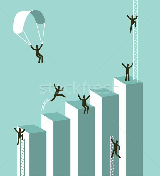Reaching to business success Stock photo © cienpies