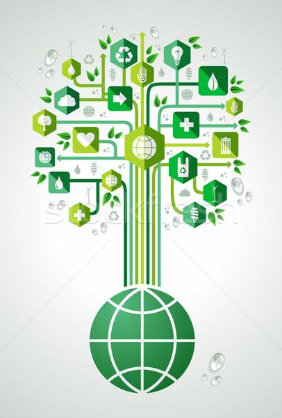 Foto stock: Verde · planeta · árbol · medio · ambiente