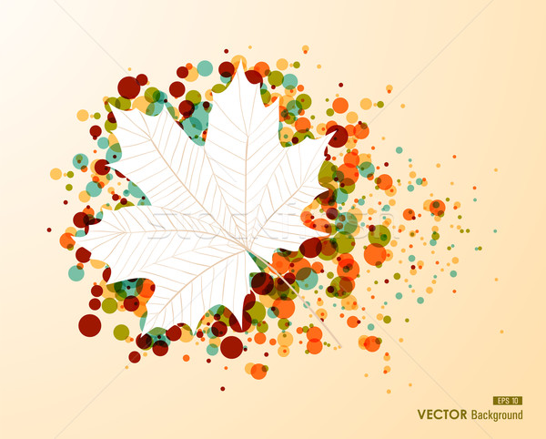 Fall season bubble composition leaf shape EPS10 file background. Stock photo © cienpies