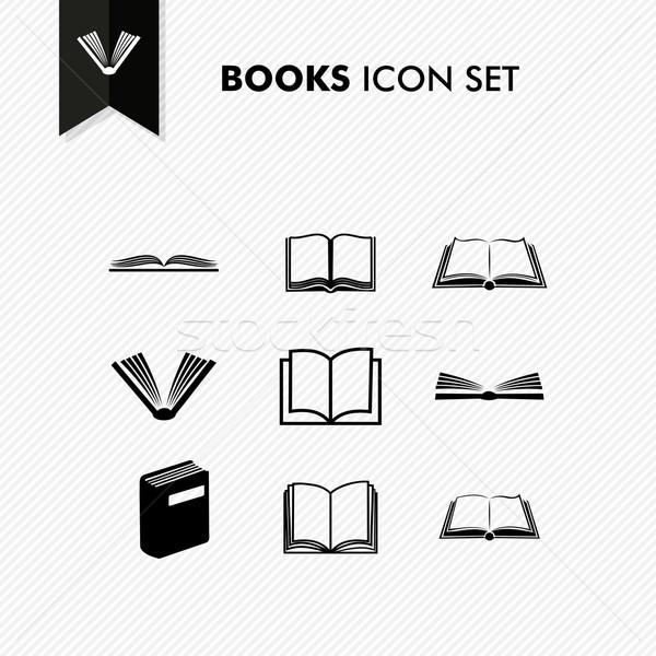 Fundamenteel boeken geïsoleerd witte vector Stockfoto © cienpies