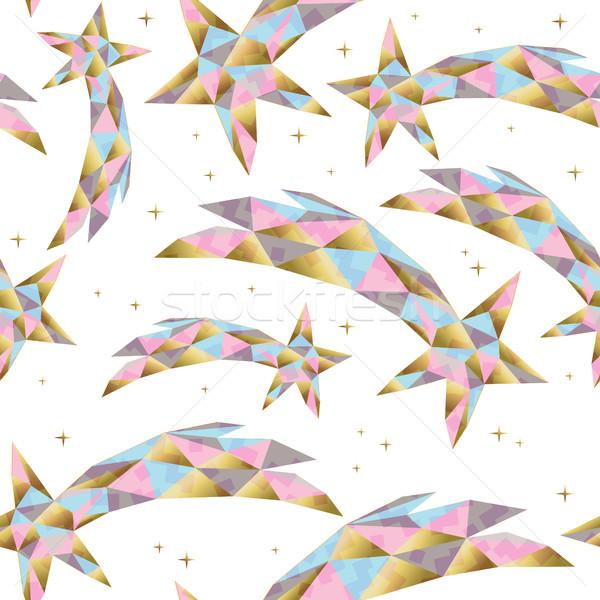 Gold star seamless pattern for holiday season Stock photo © cienpies