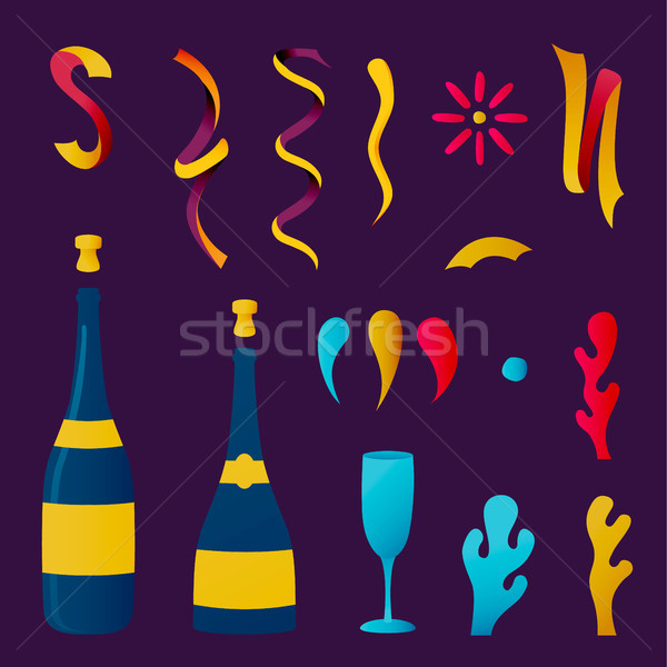 Champagne party drink collection for special event Stock photo © cienpies