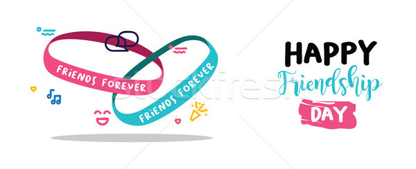 Friendship day friends forever bracelet web banner Stock photo © cienpies