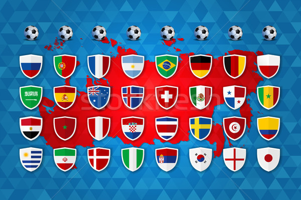 Soccer event country group template design Stock photo © cienpies