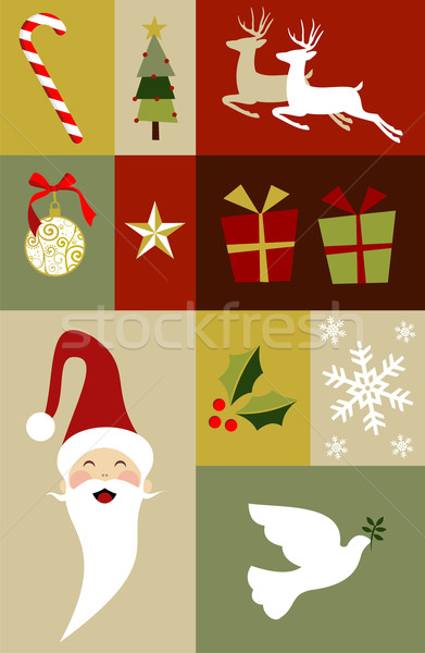 Christmas decoration set  Stock photo © cienpies