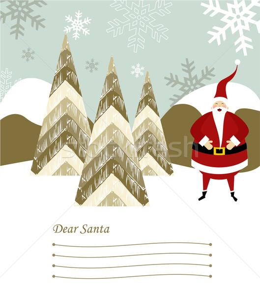Santa Claus letter. Stock photo © cienpies