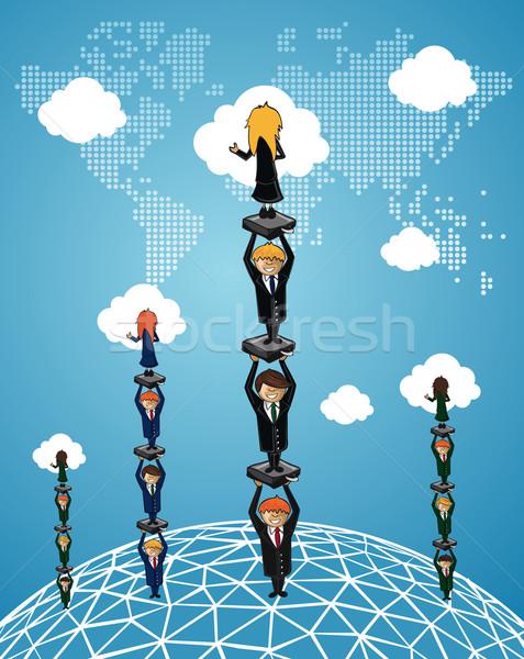 Negocio global trabajo en equipo éxito personas trabajo grupo Foto stock © cienpies