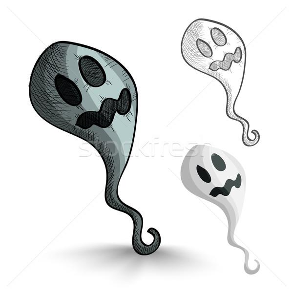 Halloween monstros isolado assustador fantasmas conjunto Foto stock © cienpies