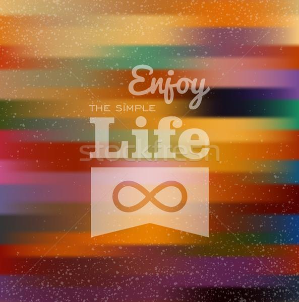 Colorido borroso estilo tarjeta efecto Foto stock © cienpies