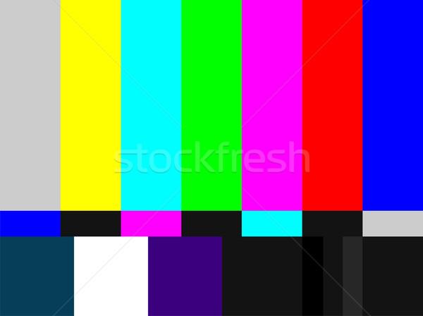 Stock fotó: Tv · színes · rácsok · jel · televízió · teszt