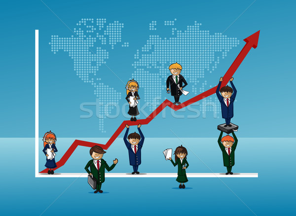Finance bussines team growth concept graph Stock photo © cienpies