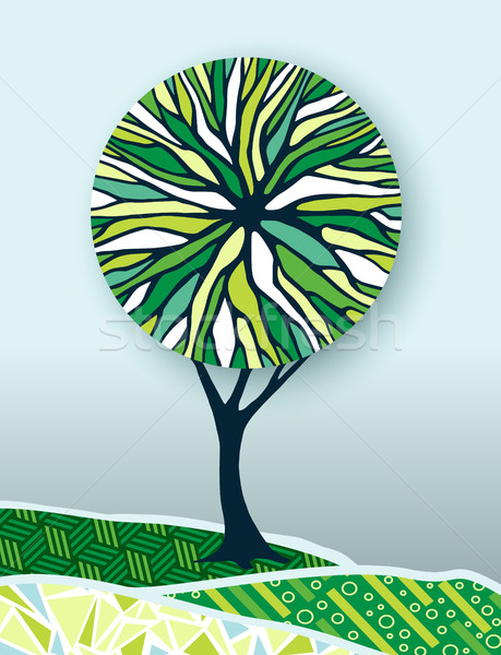 Green tree nature environment concept illustration Stock photo © cienpies
