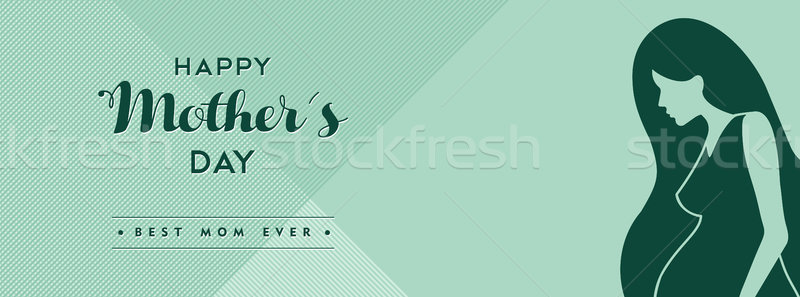 Happy mothers day social media cover illustration Stock photo © cienpies