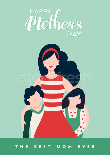 Happy mothers day to best mom love quote Stock photo © cienpies