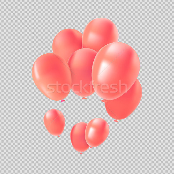 Pink helium balloon set for valentines decoration Stock photo © cienpies
