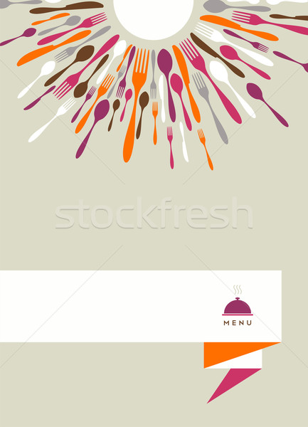 Restaurant menu background  Stock photo © cienpies